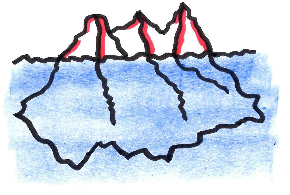 Bild eines Eisbergs